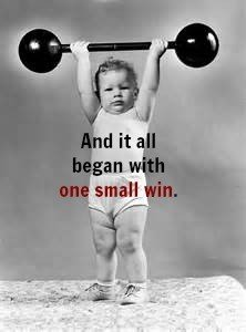 baby heavy lifting2 222x300 - Starting Small Proves Winning is Doable