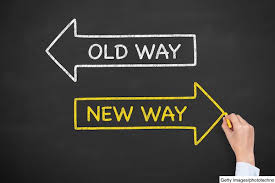 old way vs new way - Five Steps to Re-Inventing Communication in Business